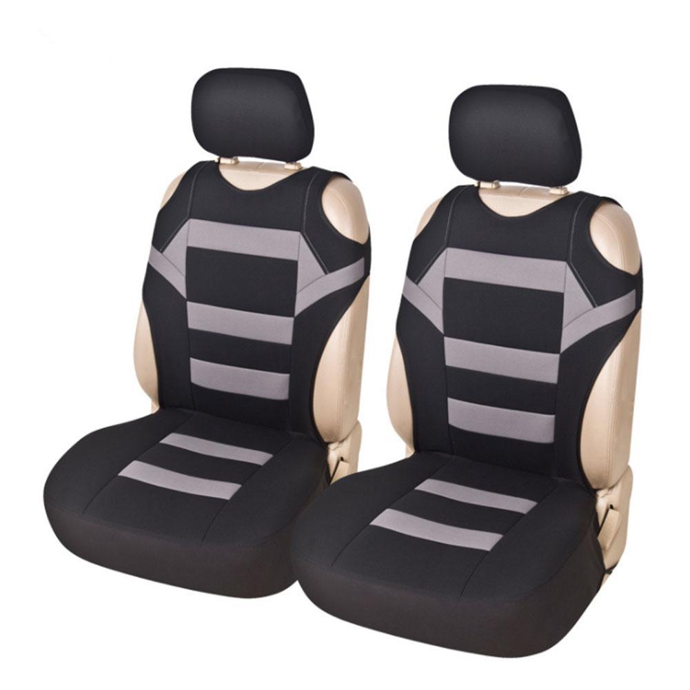2 Pieces Set Universal Car Seat Covers Mesh Sponge Interior Accessories T Shirt Design Front Car Seat Cover for Car/Truck/Van Automobiles Seat Covers     - title=