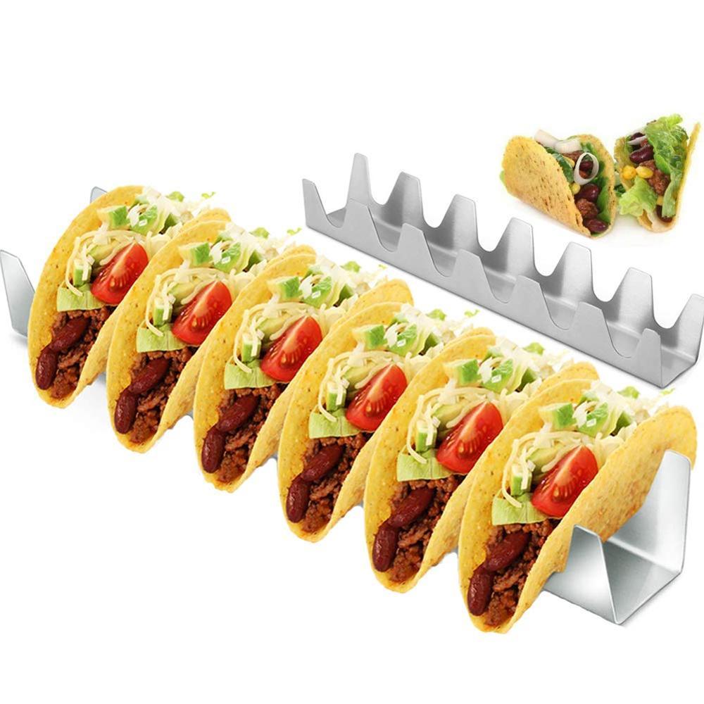 6 держателей Taco держатель из нержавеющей стали Taco Rack Shell Taco Дисплей Стенд Burrito Tortilla тарелка лоток держатель для еды Rack Shell|Инструменты для приготовления пирога|   | АлиЭкспресс