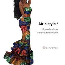 2020 Новое Африканское платье из Анкары vestidos de cóctel vestido