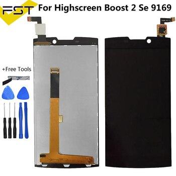 قطع غيار سوداء ل هايسكرين Boost 2 Se Boost II Se 9169 شاشة الكريستال السائل + مجموعة المحولات الرقمية لشاشة تعمل بلمس + عدة أدوات