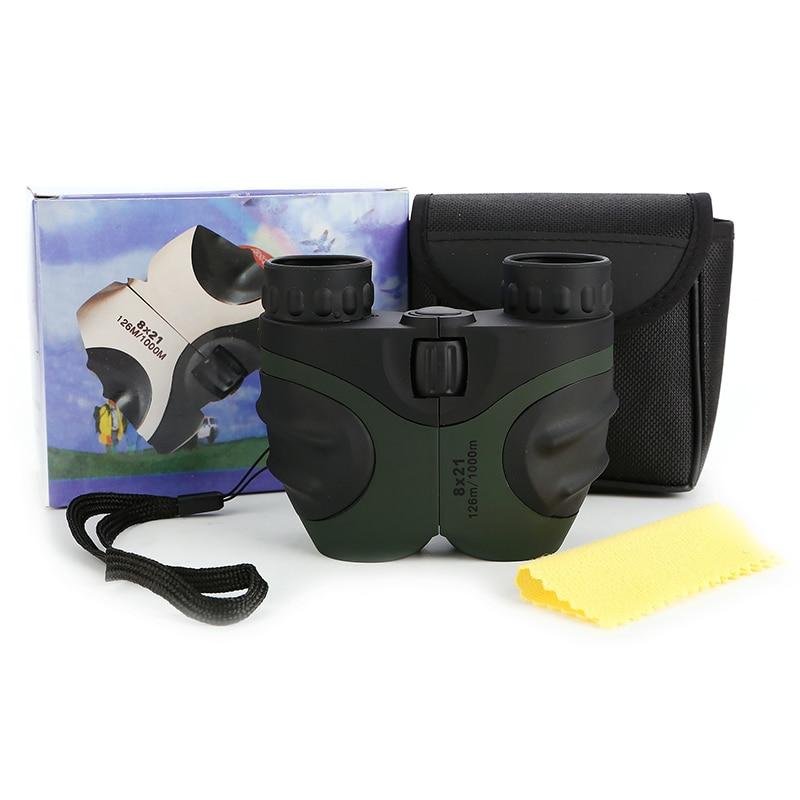 8x21 детский% 27s бинокль Paul телескоп портативный оптический портативный компактный бинокль карманный открытый кемпинг охота телескоп