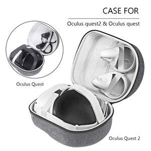 Image 2 - ハードeva旅行キャリングケース保護バッグ収納ポーチアキュラスのためクエスト2/アキュラスクエスト仮想現実vrアクセサリー