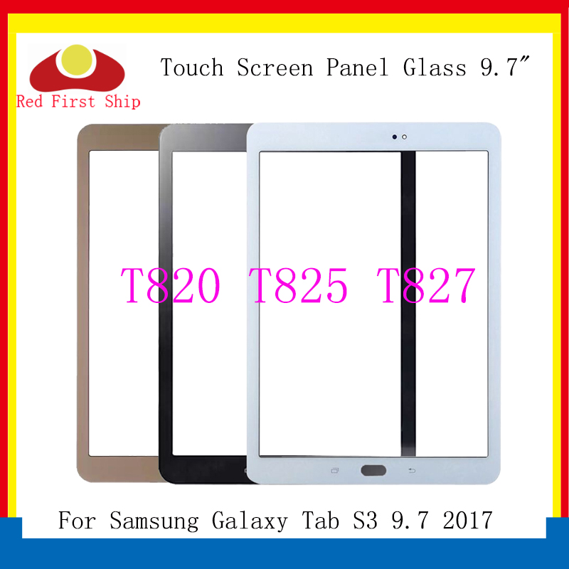 10Pcs/lot For Samsung Galaxy Tab S3 LTE 9.7 2017 T820 T825 Touch Screen Panel Glass Lens T827 LCD Front Outer Replacement