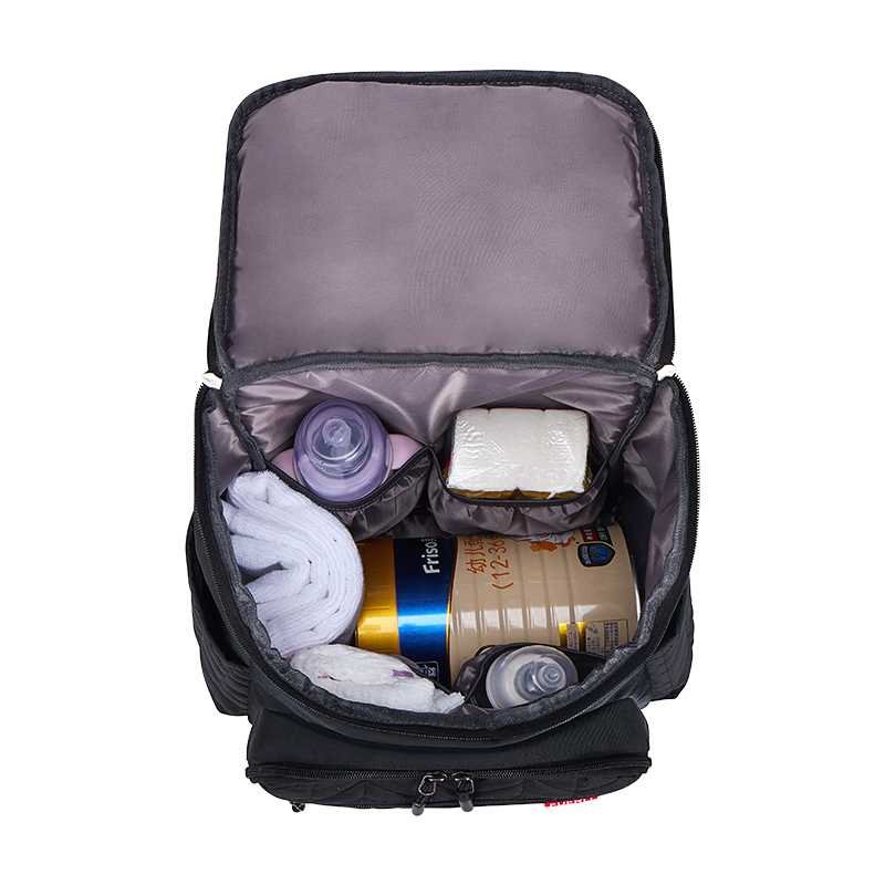Multi-function Embroidery Large-capacity Mummy Bag Travel Out Package Wet and Dry Separation Baby Care Women's Fashion Bag
