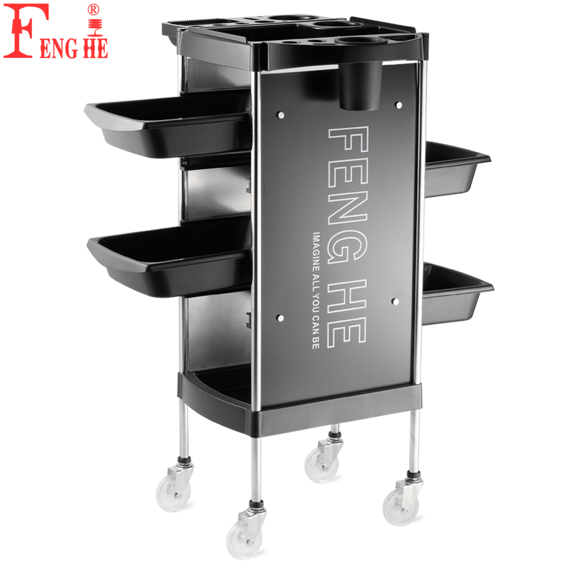 Hairdressing Trolley Hair Salon Tool Car Multifunctional 6-storey Storage Bar Car Barber Shop Oil Scalding Tool Car