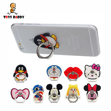 Ring Stand Holder Support for Mobile Phone Action Figure Cartoon Minnie Mickey Sailor Moon Captain America Hello Kitty Doraemon(China)