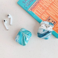 Fashion Marble Earphone Case for Air Pods 1/2 Cover Soft IMD Earpods Case for Ai