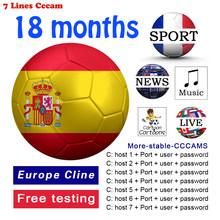 Cline de Ccam para 1 ao, 7 líneas, Europa España Portugal Polonia fiable Polska dazn españa 1 año DVB-S2 GTmedia compatible