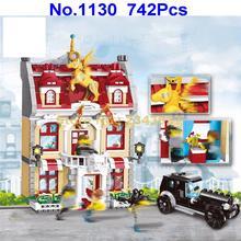 1130 742 шт городской ратуши светящиеся строительные блоки 4 фигурки игрушки