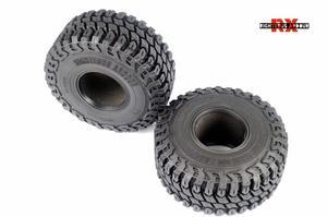 Image 4 - 2 4Pcs 1.9 Inch 125mm 1/10 Rock Crawler Rubber Tires for D90 TRX 4 Defender TRX6 G63 SCX10 II AXIAL 90046 TF2 RC Car Accessories