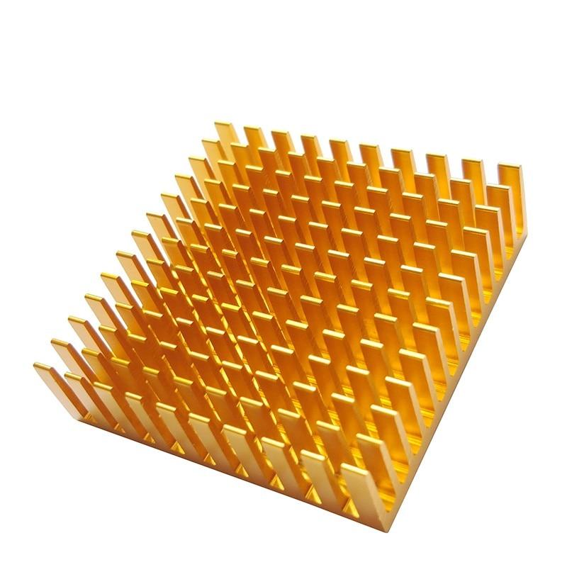1Pcs  Heat Sink 40*40*11MM (gold Slot) High-performance Radiator