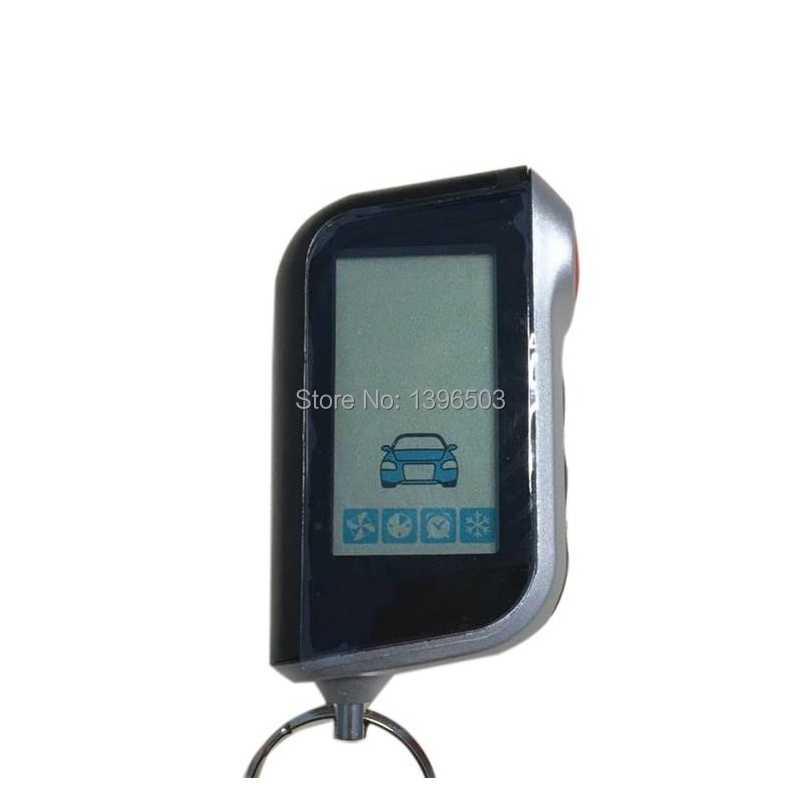 A93 Vertical LCD Remote Control Keychain For Russian StarLine A93 Car Alarm System Key Fob