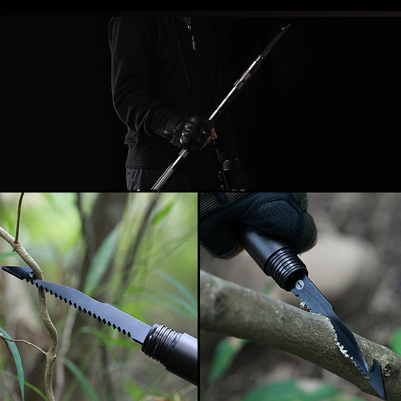 80cm Outdoor Multi Modi Zelfverdediging Stick Veiligheid Multifunctionele Auto Defensieve Bescherming Staaf Voor Wandelen Camping Emergency Tool - 5