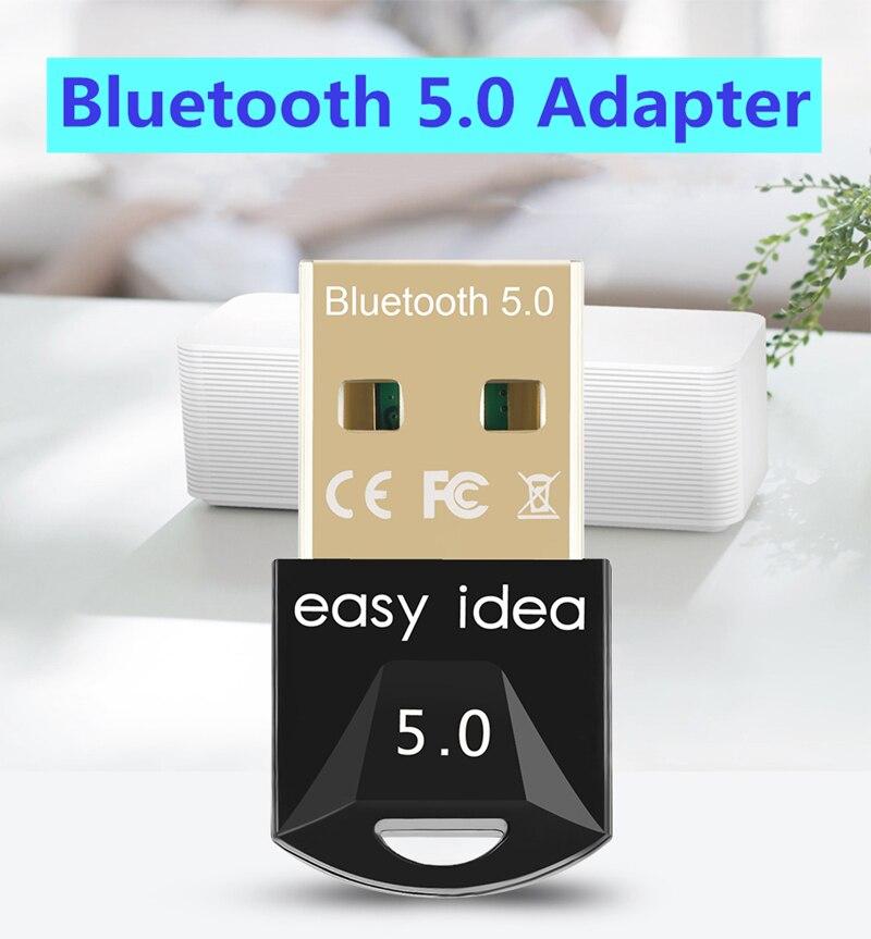 USB محول بلوتوث 5.0 استقبال بلوتوث 5.0 دونغل عالية السرعة الارسال بلوتوث صغير USB محول للكمبيوتر الكمبيوتر المحمول