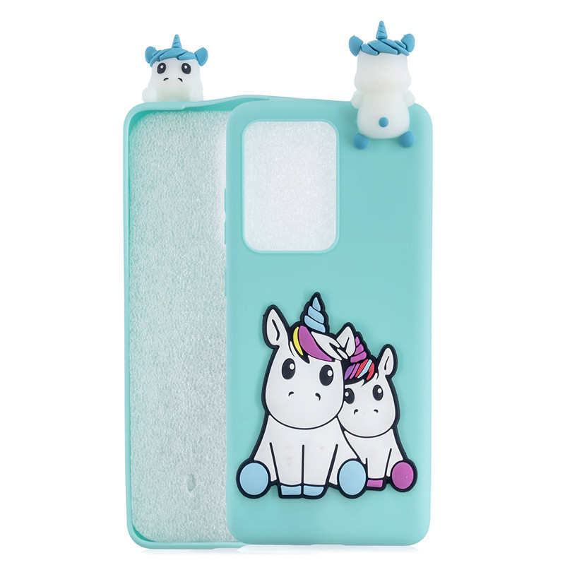 3D Case Sfor Etui Huawei P40 Lite Case On For Funda Huawei P40 Pro P 40 Lite P40lite Case Cartoon Unicorn Soft Silicone Cover