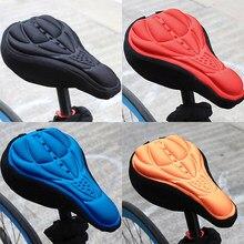 4 cores mtb mountain bike ciclismo engrossado conforto extra macio silicone 3d gel almofada capa de almofada sela assento da bicicleta