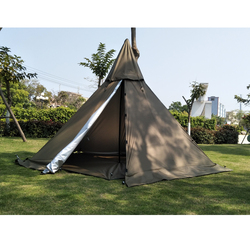 A5 Piramide Tent Met Een Schoorsteen Gat/Een Toren Rook Venster Tent Park Survival Indian Tent Veld Survival Outdoor tent