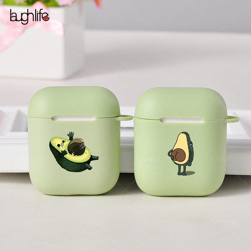 Cases For Apple AirPods 2 Soft Cartoon Avocado Earphone Case For Air Pods 1 Charging Box Cover For Airpods