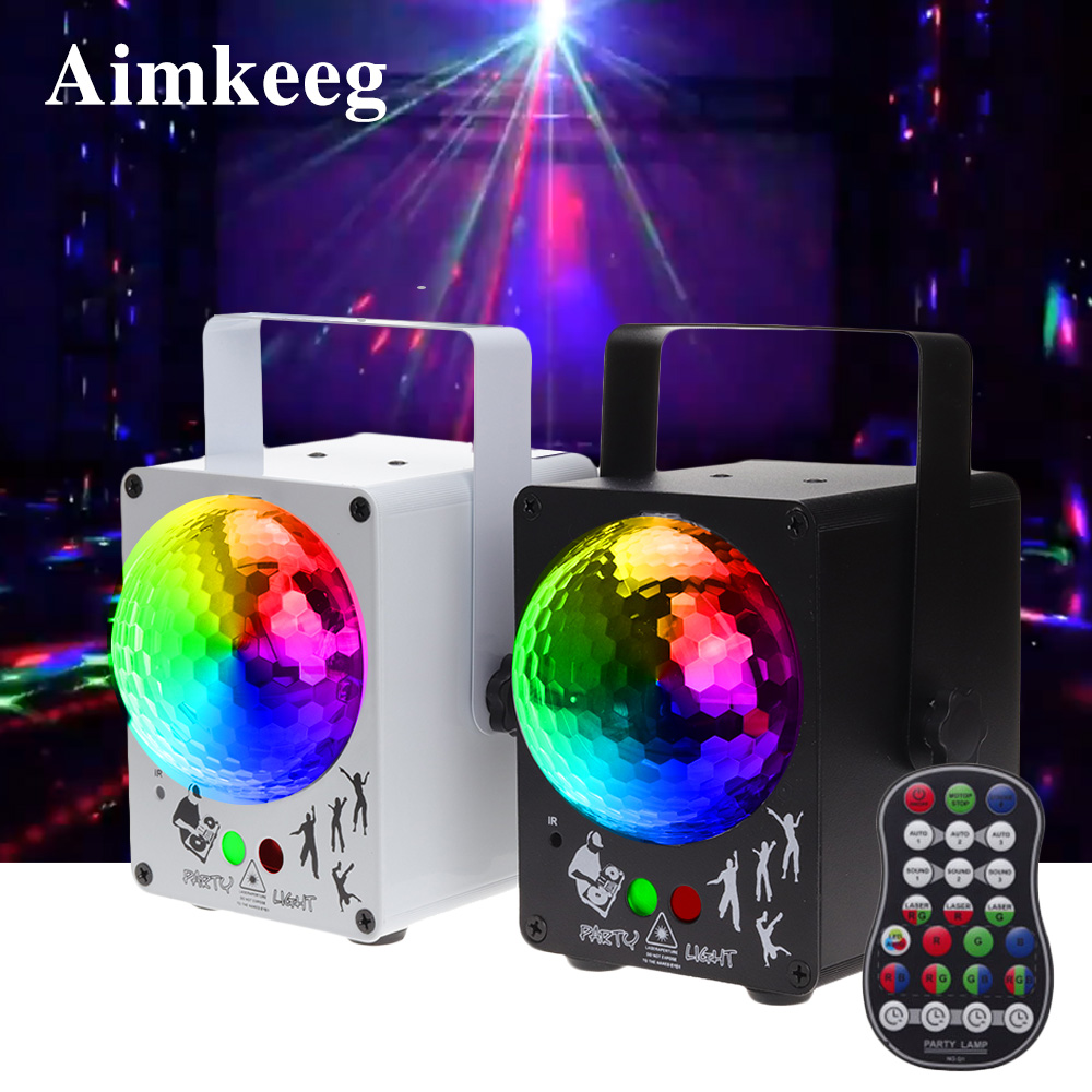 Aimkeeg LED Disco Laser Light RGB  Projector Stage Party Lights DJ Lighting Effect For Home Wedding Christmas Decoration