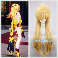 Anime Aotu World Cosplay God Rose Wig 85cm Long Fluffy Golden Wig Cosplay Costume Halloween Party Heat Resistant Synthetic Hair