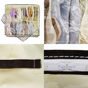 Image 5 - Hot Sale Home Accessories 12 Grid Transparent Dustproof Shoe Organizer PVC Shoe Storage Box Space Saving