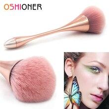 Oshioner 1 pcハンドルメイク化粧ファンデーションブラシプラスチックハンドル赤面ブラシルースパウダー