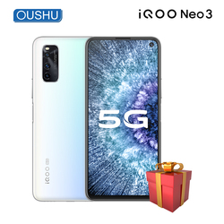 Оригинальный двухрежимный 5G IQOO neo 3 Snapdragon 865 Celular 144 Гц 6,57 ''гоночный экран 8 Гб 256 ГБ 48MP UFS3.1 4500 мАч телефон NFC