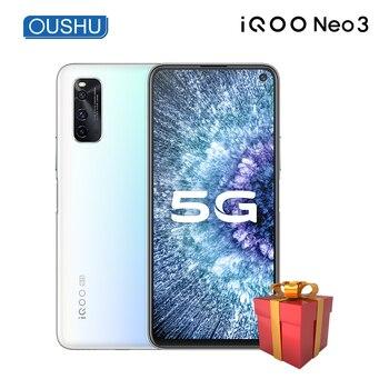 Перейти на Алиэкспресс и купить Оригинальный двухрежимный 5G IQOO neo 3 Snapdragon 865 Celular 144 Гц 6,57 ''гоночный экран 8 Гб 256 ГБ 48MP UFS3.1 4500 мАч телефон NFC