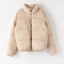 Sfit зимнее женское хлопковое пальто Bubble пальто куртки повседневные на молнии с воротником-стойкой однотонная короткая верхняя одежда женские парки Mujer