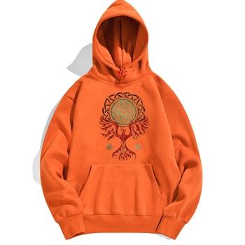 Odin Vikings Scandinavian Runes Valhalla Man Hoodies Sweatshirts Woman Hoodie Sweatshirt Spring Autumn Crewneck Pullovers Hoody 2