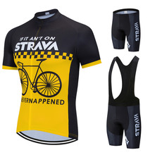 2020 STRAVA Bicycle Wear MTB Cycling Clothing Ropa Ciclismo Bike uniform Cycle shirt Racing Cycling Jersey Suit(China)