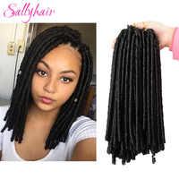 Sallyhair 14 pollici 70 g/pacco Crochet Trecce Treccia Sintetica Extensions Afro Acconciature Morbida Faux Locs Marrone Nero di Spessore Pieno