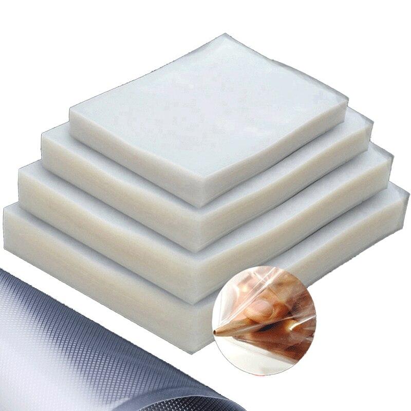 Вакуумный Еда Saver вакуумный упаковщик сумок рулонов Sous хранение упаковочный мешок для мяса, фруктов и овощей гайки 100 шт./пакет