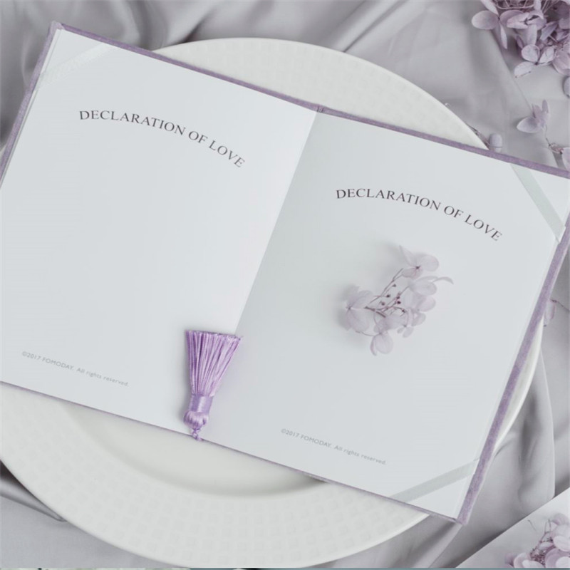 "Image 3 - Romantic Wedding Vows Book with Tassels ""Ours Vows"" Wedding Book High Quality Velvet Vow Cards Bridal Shower Gifts Flatlays PropCards & Invitations   -"