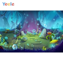 Yeele Dreamy Backdrop Wonderland Forest Tree Newborn Baby Birthday Party Custom Photography Background Vinyl For Photo Studio