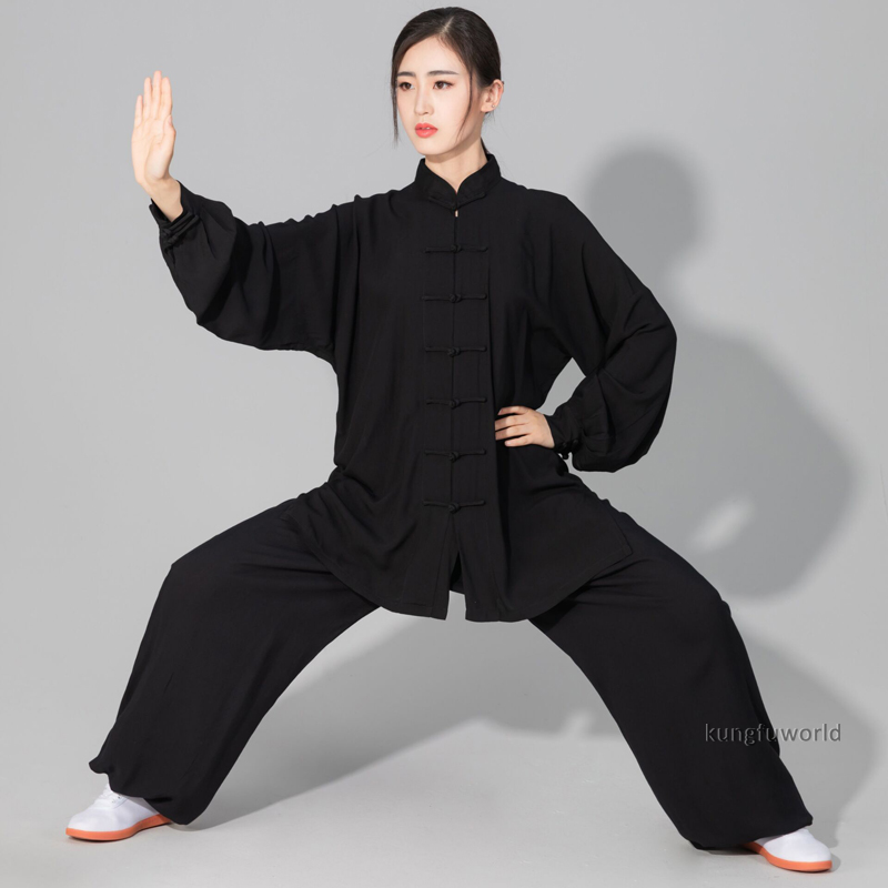Women's Men's Soft Cotton Tai chi Suit Kung fu Wushu Martial arts Uniform Wing Chun Jacket Pants