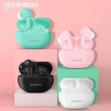 GOOJODOQ ספורט Bluetooth אוזניות 5.0 Earhook אמיתי אלחוטית עם USB תשלום מקרה TWS Bluetooth אוזניות עם מיקרופון