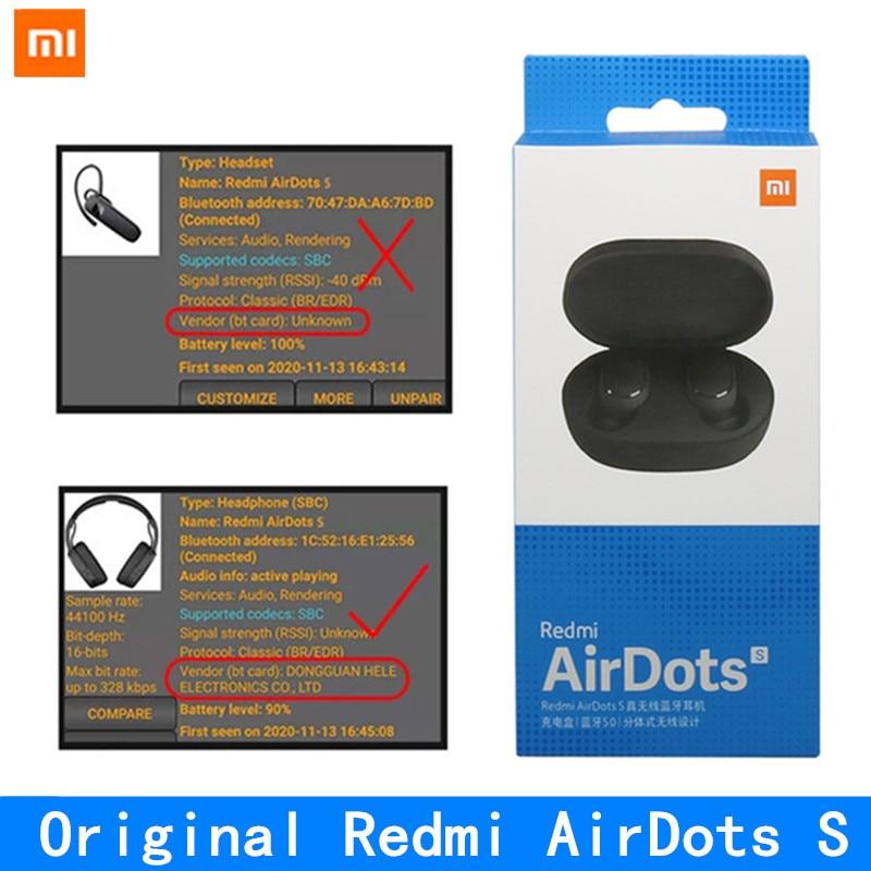 Оригинальный Xiaomi Redmi AirDots S Наушники-вкладыши TWS Bluetooth гарнитура беспроводная Bluetooth гарнитура с микрофоном громкой связи Bluetooth гарнитура науш...