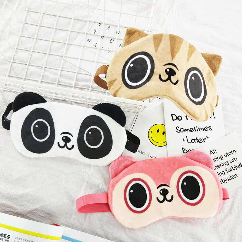 Cartoon Cotton Eye Cover Sleeping Mask Eyepatch Sleeping Aid Kids Blindfold Sleep Mask Travel Relax Eye Band Home Party Gifts
