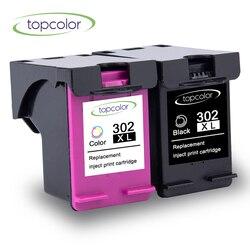 Topcolor 302 XL czarny wkład atramentowy nadaje się do HP 302 hp 302 302XL kolorowy atrament z chipem 2132 2130 5220 5230 5252 5255 drukarki|Tusze do drukarek|Komputer i biuro -