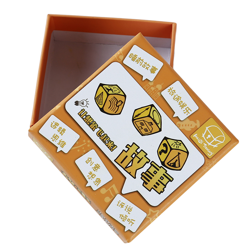 Party Games Story Dice Puzzle Board Game Telling Story Metal Boxes Family/Party/Friends Parents With Children Kids Gift