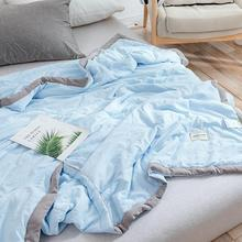 Quilt Air-Condition Velvet Thin Breathable Cotton Summer Nordic Stuffed-Cozy Washed Solid-Colors