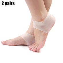 New Hot 2 Pairs Heel Protector Silicone Gel Ankle Support Soft Socks Fo