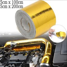 Protetor térmico da isolação do calor da entrada de ar da fita da exaustão do ouro que envolve o motor autoadesivo reflexivo da barreira térmica 1/2m