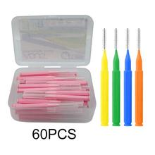 60Pcs 0.6-1.5mm Interdental Brushes Health Care Tooth Push-P