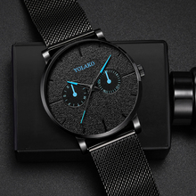 Blue Pointer Casual 2019 New Watch Mesh Belt Fashion Quartz Mens Luxury Male WriststWatch Clock Relogio Masculino
