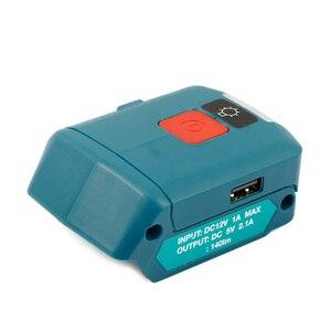 Image 2 - Ulepszony Adapter do Makita ADP06 12V BL106/BL02/BL104/BL03/BL02 USB CXT akumulatorowe źródło zasilania litowo jonowego ze światłem LED