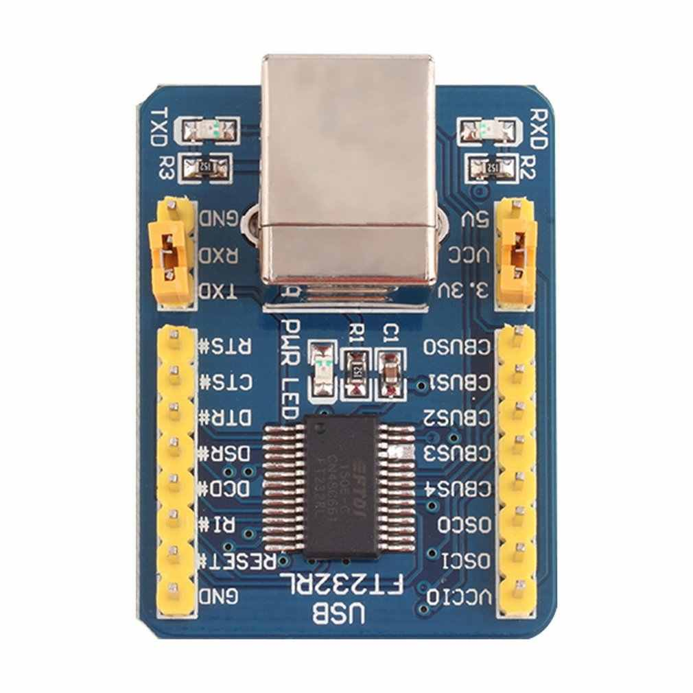 Biru 40*29*13 Mm 35G FT232RL USB untuk TTL Serial Converter Adaptor Modul 5V dan 3.3V UNTUK ARDUINO Over-Current Protection