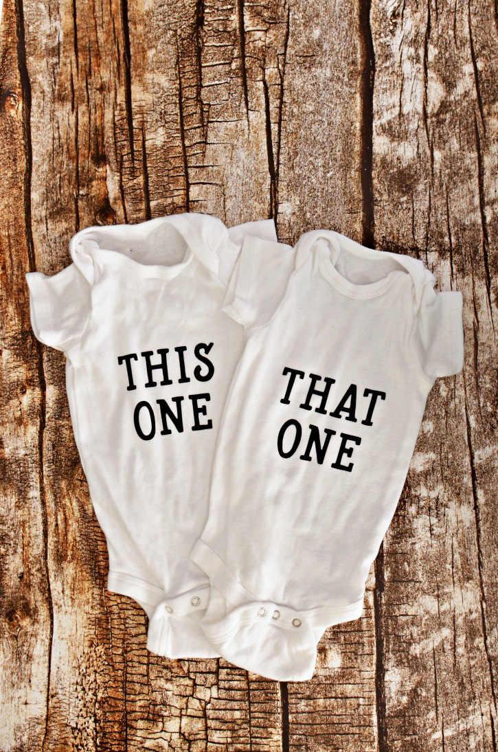 Tweeling Baby Bodysuit Kleding Kopen Krijgen Een Gratis Baby Jongen Meisje Kleding Leuke Zomer Korte Mouw Bodysuits Tweeling Douche gift