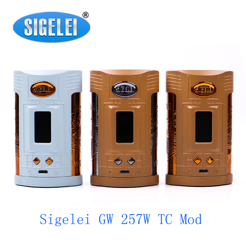 Clearence!! Sigelei GW 257W TC Mod Powered By Dual 21700/20700/18650 Batteries With Max 257W Output Vape Mod